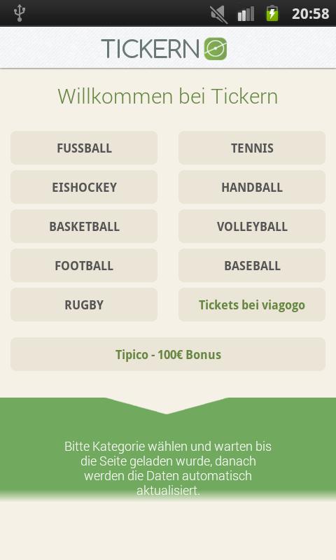 Tickern App Tickern Sport Liveticker